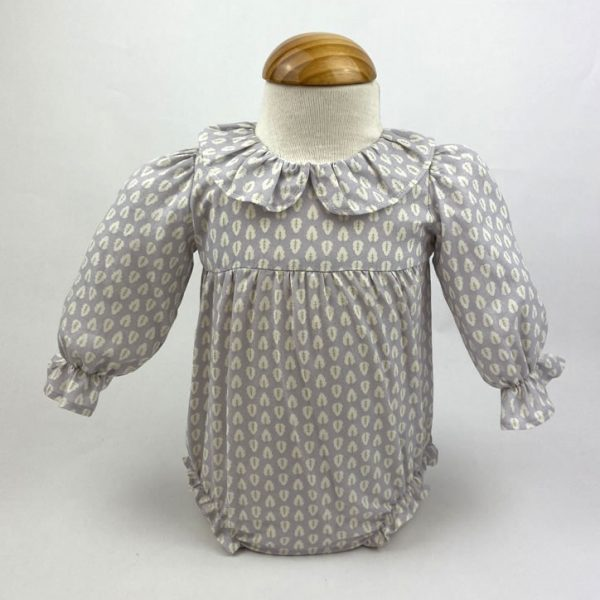 Bañadores La Pala - Moda Bebés -Balancete - Pelele Hojas Celestes