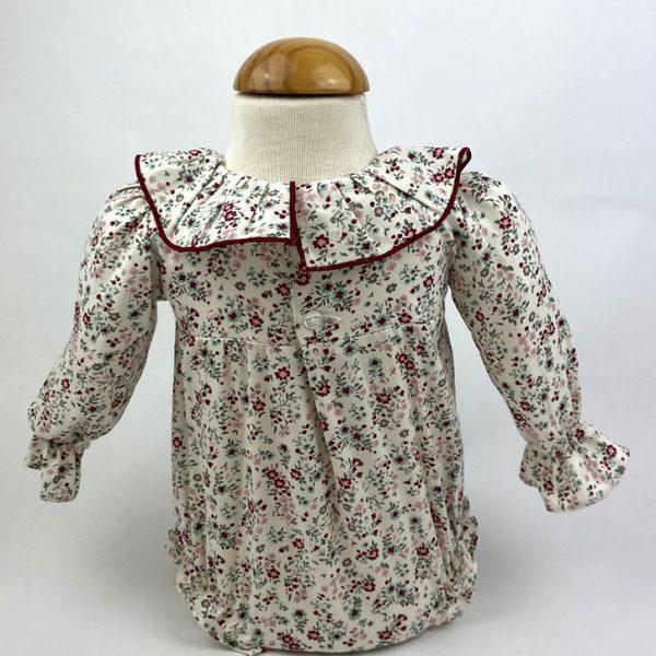 Bañadores La Pala - Moda Bebés -Balancete - Pelele Flores Rosa