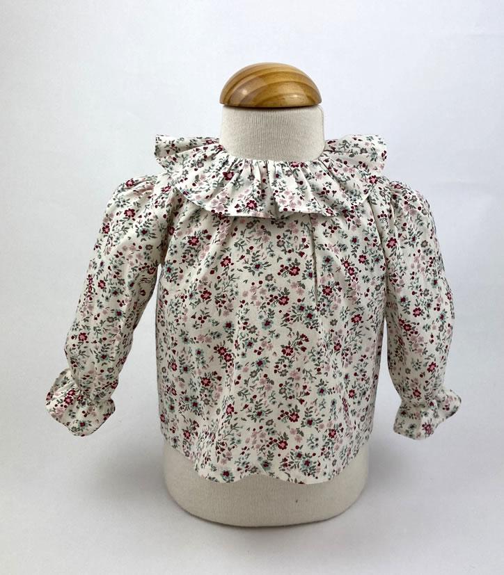 Bañadores La Pala - Moda Bebés -Balancete - Blusa Flores Rosa
