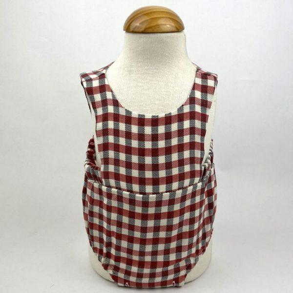 Bañadores La Pala - Moda Bebés -Balancete - Pelele Vichy Rojo