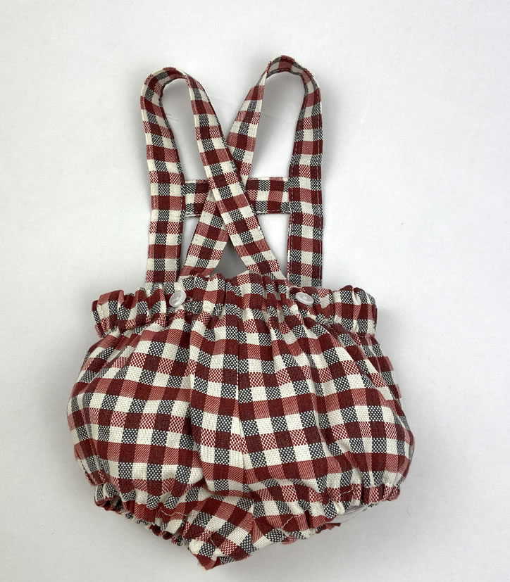 Bañadores La Pala - Moda Bebés -Balancete - Peto Vichy Rojo