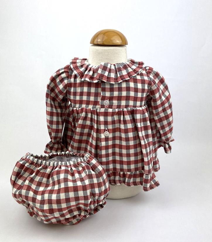 Bañadores La Pala - Moda Bebés -Balancete - Jesusín Vichy Rojo