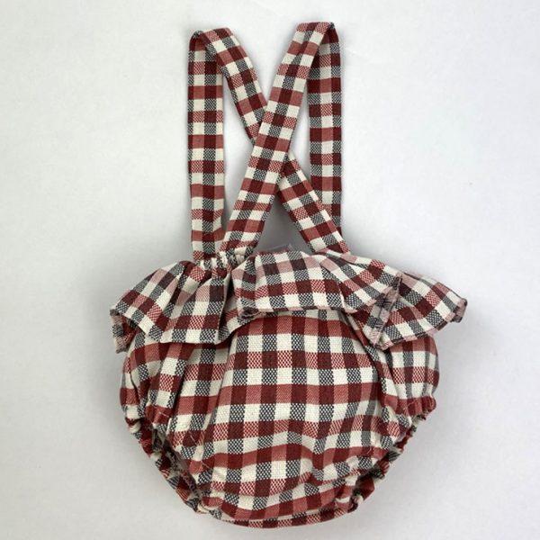 Bañadores La Pala - Moda Bebés -Balancete - Cubrepañal Tiranta Vichy Rojo