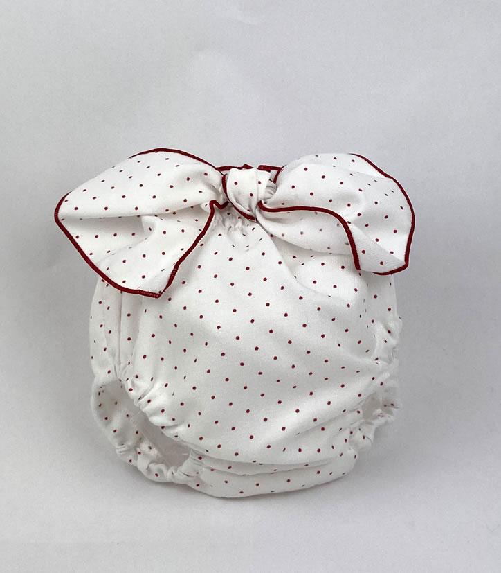 Bañadores La Pala - Moda Bebés -Balancete - Cubrepañal Topitos Rojos