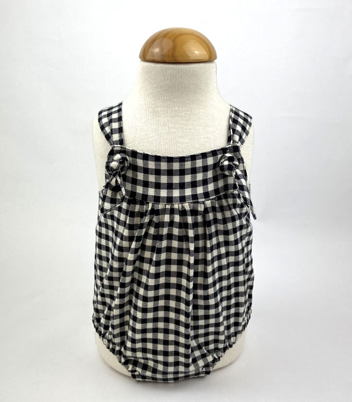 Bañadores La Pala - Moda Bebés -Balancete - Pelele Vichy Negro