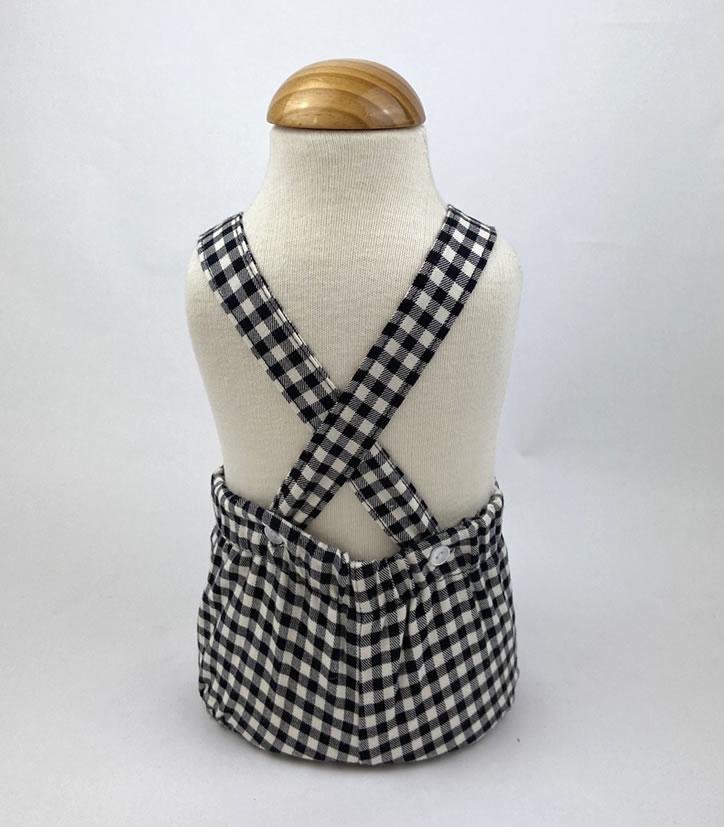 Bañadores La Pala - Moda Bebés -Balancete - Peto Vichy Negro