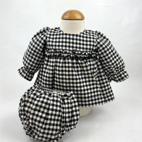 Bañadores La Pala - Moda Bebés -Balancete - Jesusín Vichy Negro