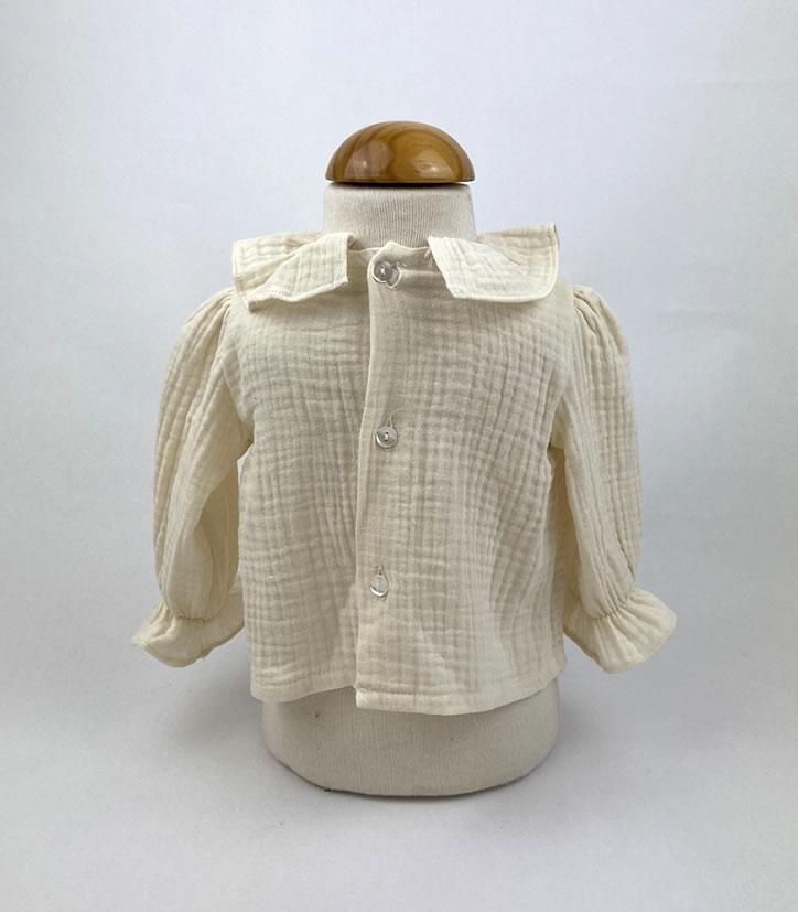 Bañadores La Pala - Moda Bebés -Balancete - Blusa Lisa Crema